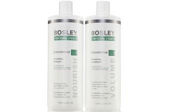 Bosley BosDefense Shampoo & Conditioner 1lt duo Thinning Non Colored Hair