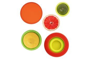 Set of 4 Reusable Silicone Food Hugger Saver BPA Free - Keeps food Fresh
