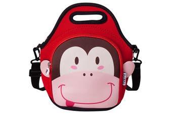 ITZI BITZI Waterproof, Thermal Neoprene Insulated Monkey Kids Lunch Bag / Backpack / Tote - 3 Way Use