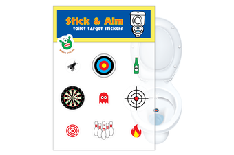 1 Pack - Toilet Urinal Training Target Stickers for Boys / Men