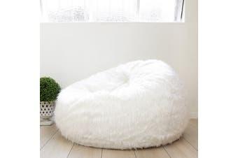Fur Bean Bag - White Polo
