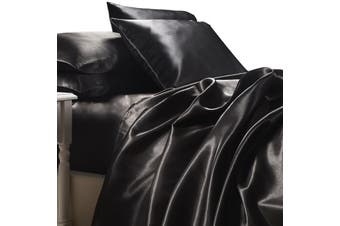 Satin Sheet Set - Luxury Black