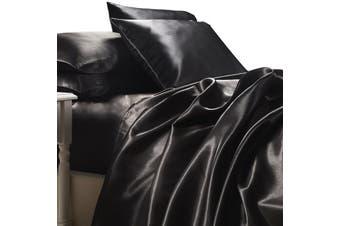 Satin Sheet Set - Black - King