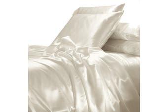 Satin Sheet Set - Ivory Cream - King