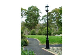 Garden Lamp Post  - Black