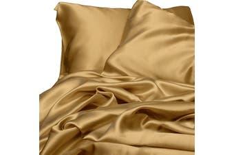 Satin Sheet Set - Gold - King