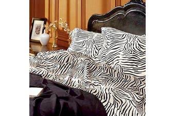Satin Sheet Set - Zebra Print - Queen