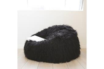 Fur Bean Bag - Black Shaggy