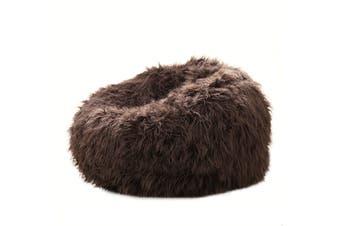 Fur Bean Bag - Chocolate Brown Shaggy