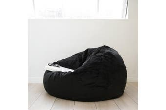Pierre Fur Bean Bag - Black - Large