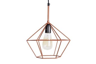 Diamond Pendant Light - Copper