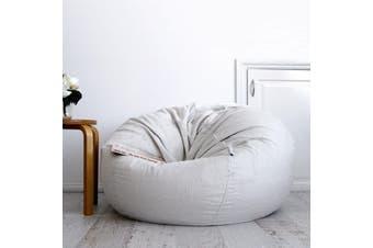 Pierre Fur Bean Bag - Silver Grey - Large