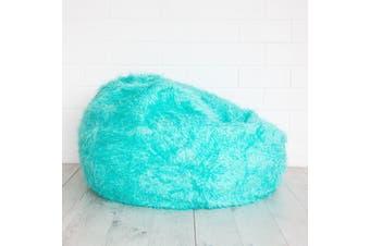 Fur Bean Bag - Turquoise Polo