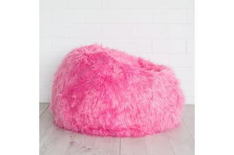 Lush Fur Bean Bag - Pink