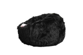 Lush Fur Bean Bag - Black