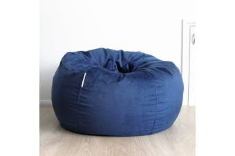 Pierre Fur Bean Bag - Ocean Blue - 2 Sizes Available