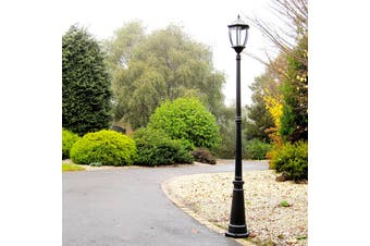 Solar Garden Light Post - Black