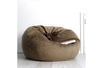 Pierre Fur Bean Bag - Coffee - 2 Sizes Available