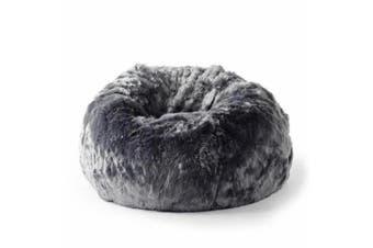 Fur Bean Bag - Charcoal Cloud