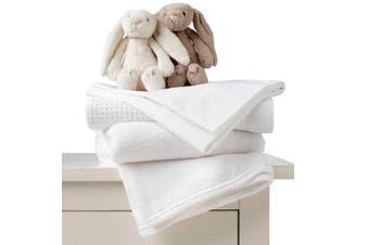 Silky Soft 100% Baby Cot/Crib Bamboo Sheet Set - White