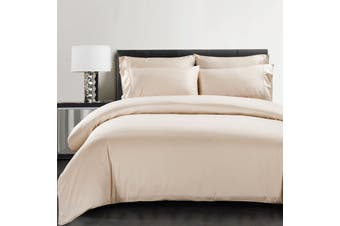 Silky Soft 100% Bamboo Quilt Cover - Latte - Queen