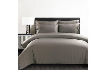 Silky Soft 100% Bamboo Quilt Cover  - Charcoal - Queen