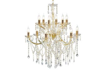 Allure Chandelier 12 Light - Gold