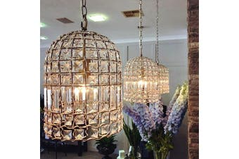 Whitney Dome Crystal Chandelier - Brass
