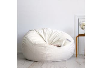 Pierre Fur Bean Bag - Ivory - Extra Large