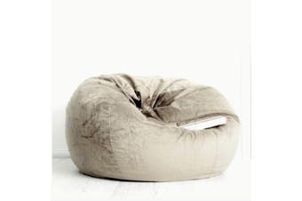 Pierre Fur Bean Bag - Champagne Latte - Extra Large