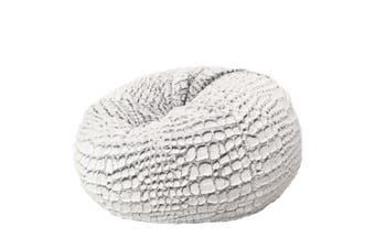Cashmere Fur Bean Bag - Silver White