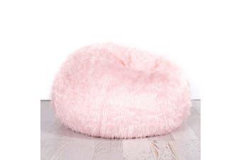 Fur Bean Bag - Soft Pink Polo