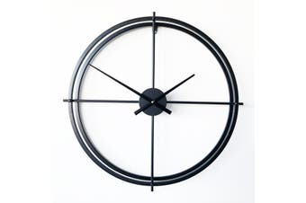 Metal Wall Clock - Lincoln Black