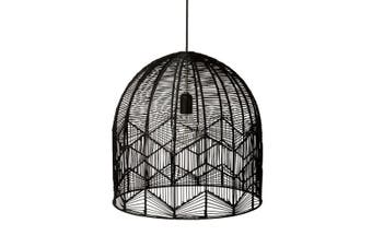 Black Rattan Lace Pendant Light - Amalfi - 2 Sizes