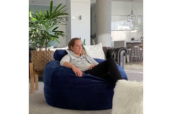 Extra Large Fur Bean Bag - Grand Navy - Sensory Foam Filling Included