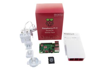 Raspberry Complete Starter Kit: Pi 3 Model B+, Official Case and PSU Included