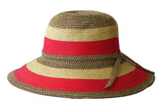 Jacaru 1752 Striped Wide Brim Hat