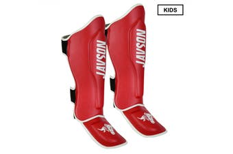 Kids Shin Guards for Boxing MMA Training Shin Pads for Muay Thai Kickboxing Martial Arts Training Shin instep Leg Protective Gear - Red