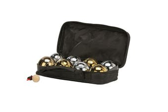 Deluxe 8 Metal Bowls Bocce/Petanque Game Set Gold & Silver