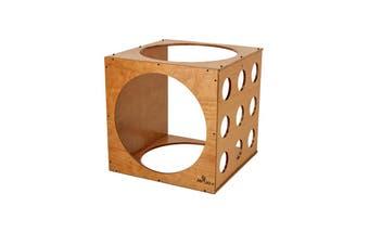 Wooden Climbing Cube For Kids 60cm Diameter