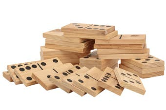 Giant Outdoor Dominoes Game Set with 28 Pieces 15cm
