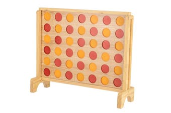 Mega Plywood Connect Four In A Row Game Set 69x79cm
