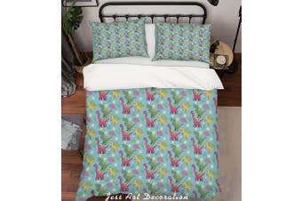 3D Cartoon Dinosaur Green Quilt Cover Set Bedding Set Pillowcases 84-Double