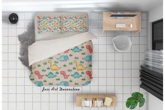 3D Cartoon Dinosaur Color Quilt Cover Set Bedding Set Pillowcases 82-King