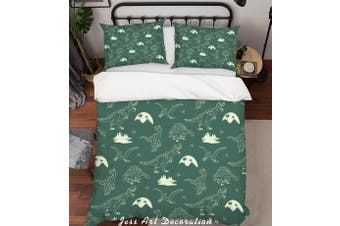 3D Cartoon Dinosaur Quilt Cover Set Bedding Set Pillowcases 81-Double