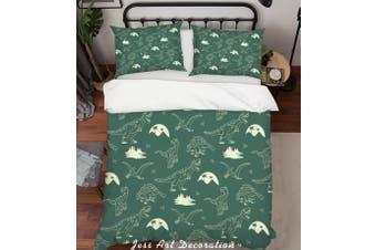 3D Cartoon Dinosaur Quilt Cover Set Bedding Set Pillowcases 81-King