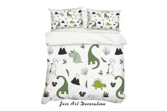3D Cartoon Dinosaur Quilt Cover Set Bedding Set Pillowcases 80-Double