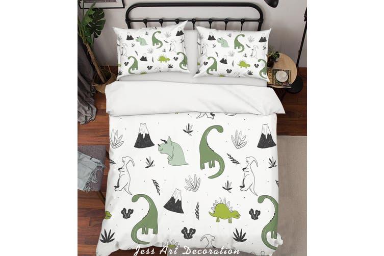 3D Cartoon Dinosaur Quilt Cover Set Bedding Set Pillowcases 80-Queen