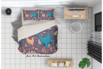 3D Cartoon Dinosaur Quilt Cover Set Bedding Set Pillowcases 72-King