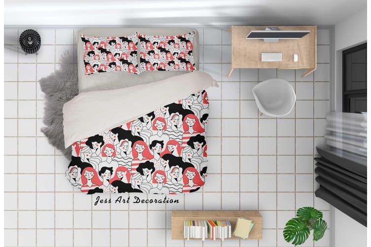 3D Color People Quilt Cover Set Bedding Set Pillowcases 41-Double